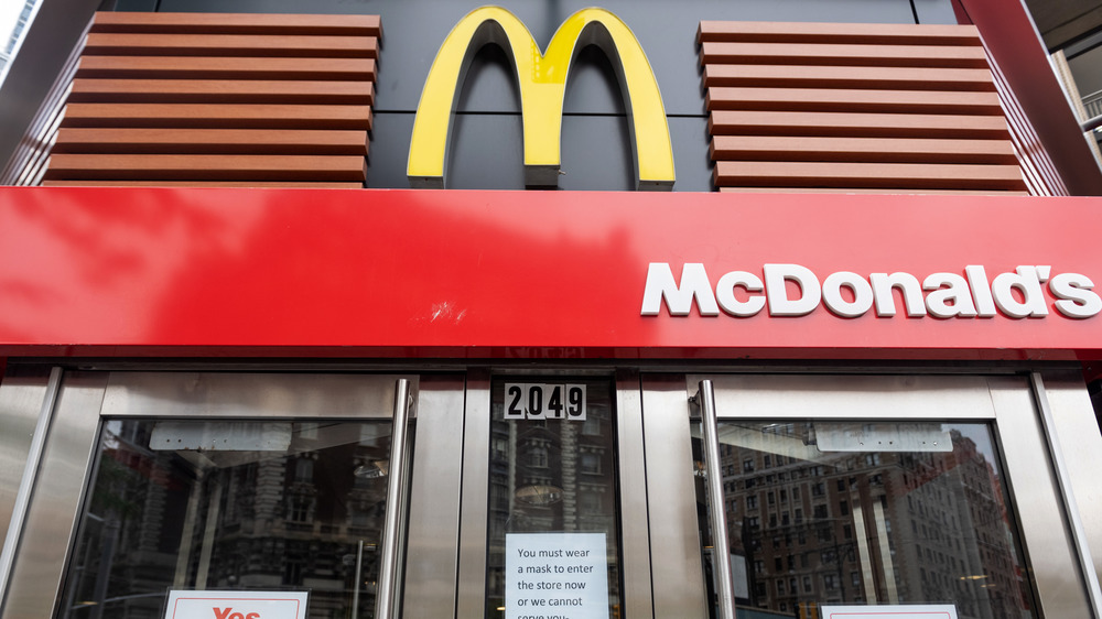 The Burger King logo and McDonald's logo