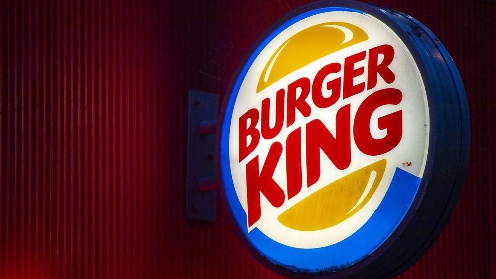 Burger King logo at night