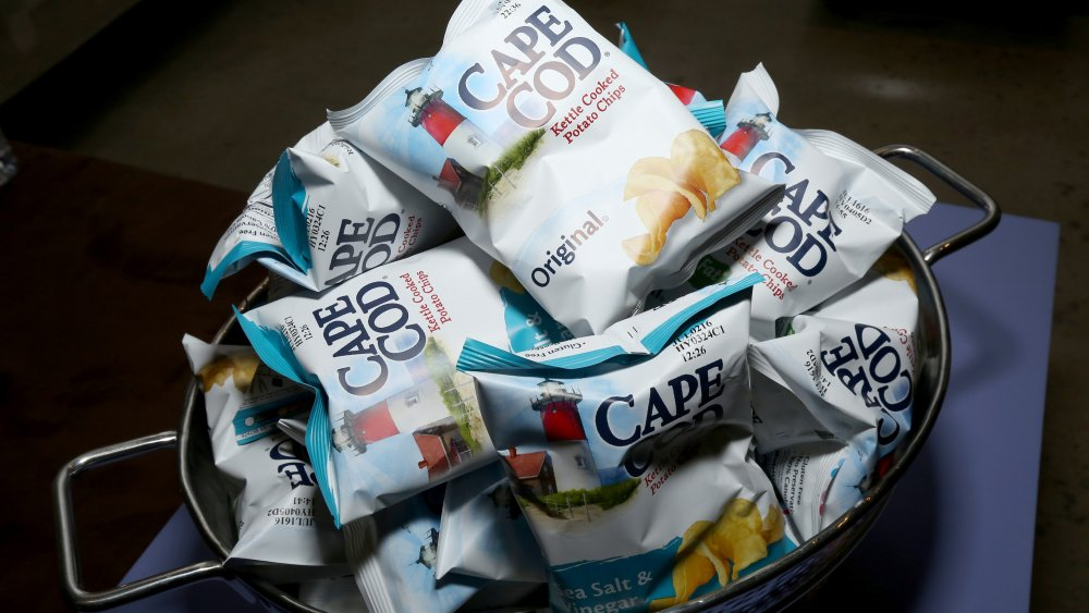 Display of bags of Cape Cod potato chips
