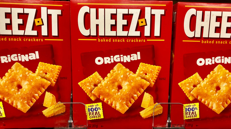 Boxes of Cheez-Its