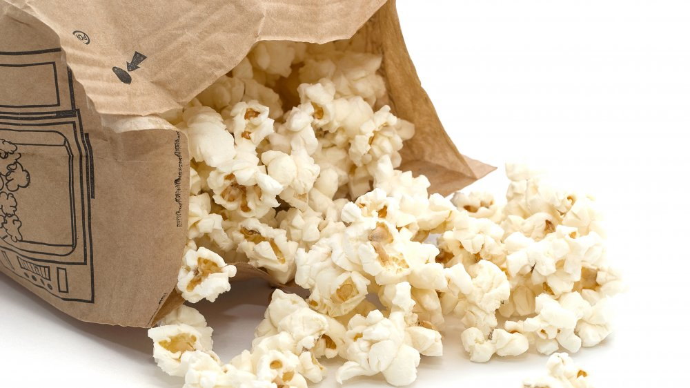 Microwave popcorn in a bag