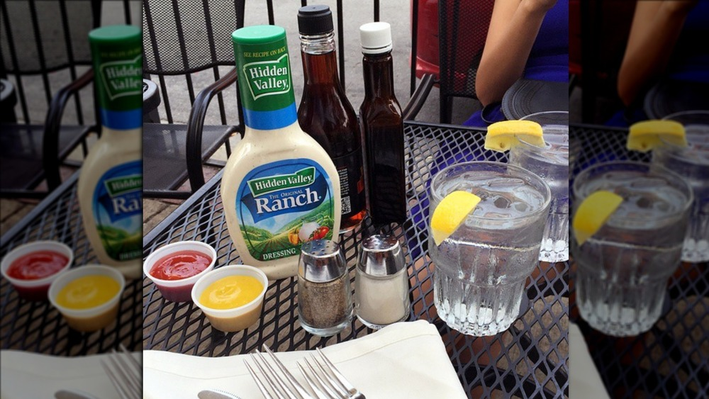 Hidden Valley Ranch dressing on a table