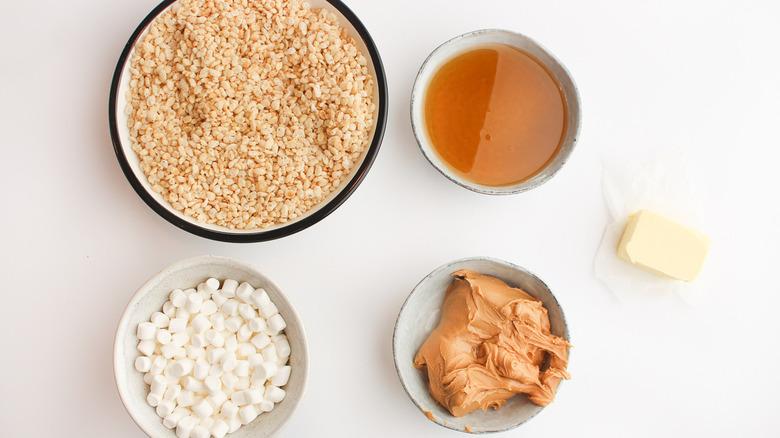 Peanut butter rice crispy treats ingredients