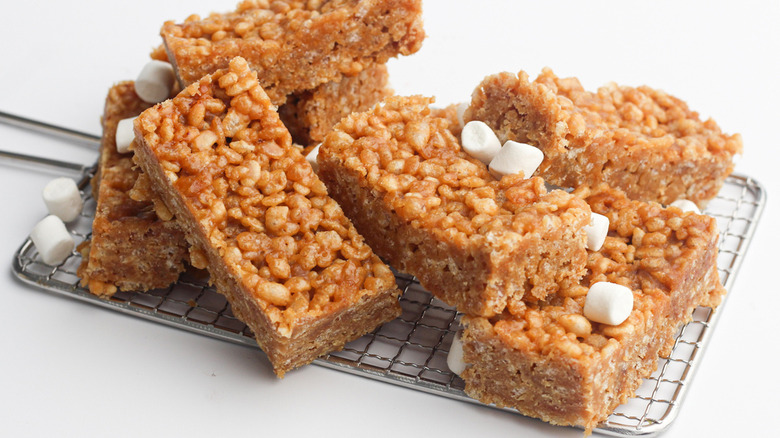 Homemade peanut butter rice crispy treats