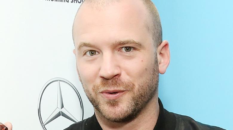 Hot Ones host Sean Evans on red carpet