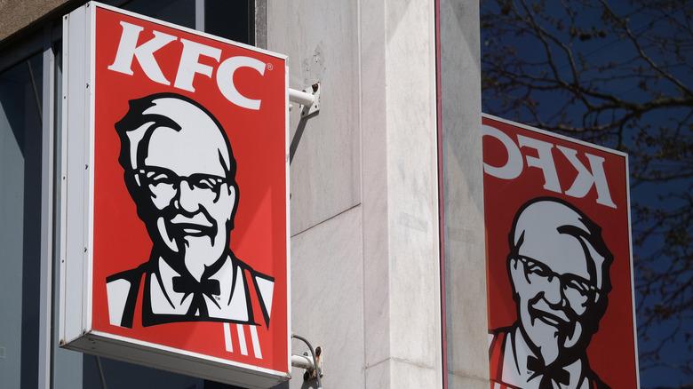 Outside of a KFC