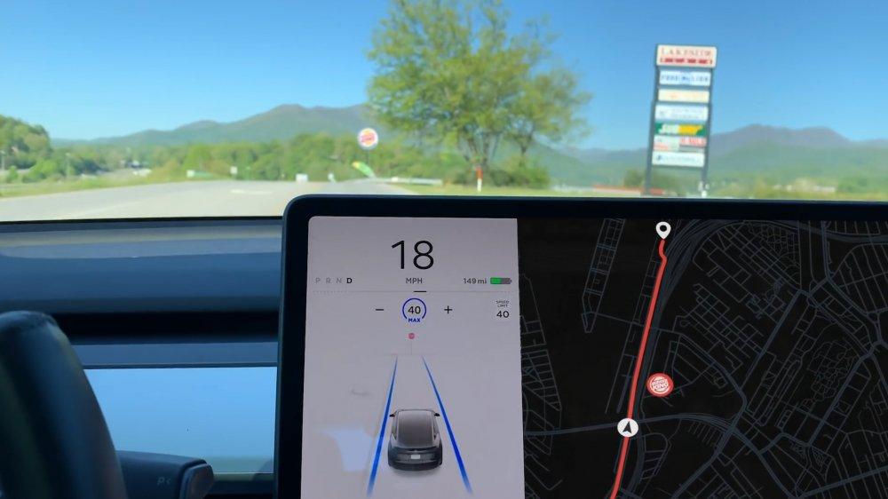 Autopilot recognizing Burger King sign