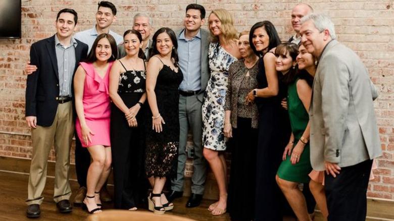 Mauricio Scott's family at rehearsal dinner