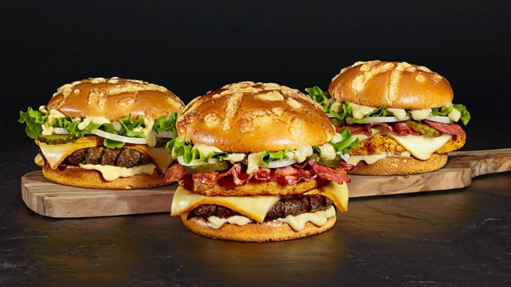 Three upscale burgers from Burger King France
