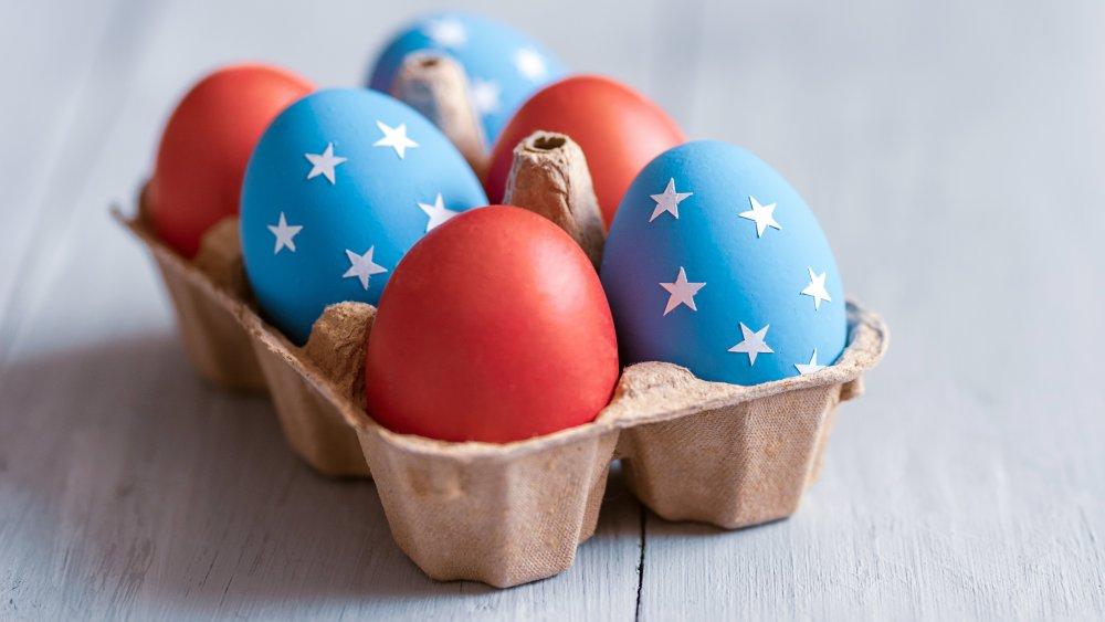 American flag eggs