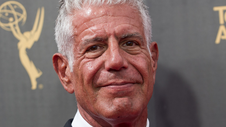 Anthony Bourdain at Television Academy red carpet