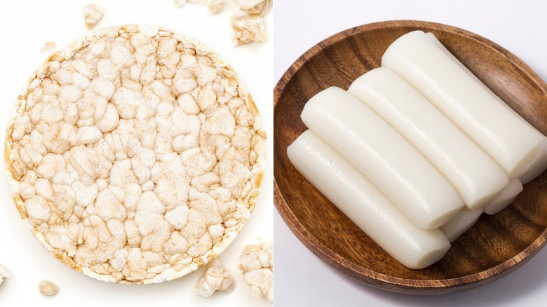 American and Asian rice cakes