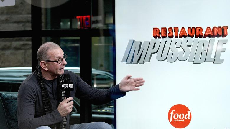 "Robert Irvine and ""Restaurant: Impossible"" logo"