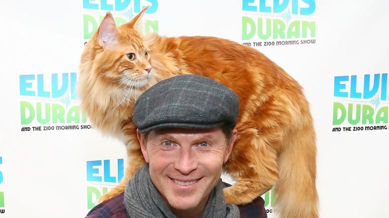 Bobby Flay and his cat Nacho