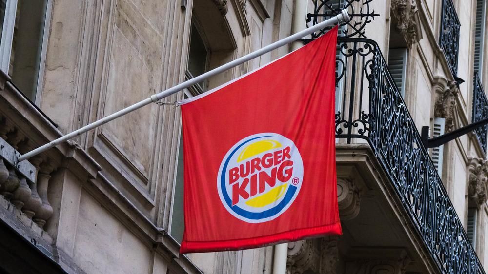 Burger King sign in Paris, France