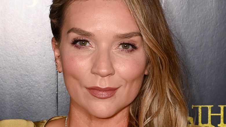 Candice Brown on a red carpet