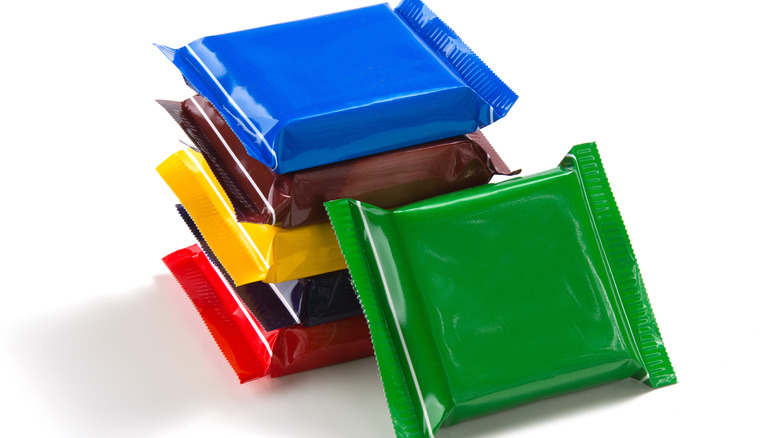Colorful chocolate wrappers