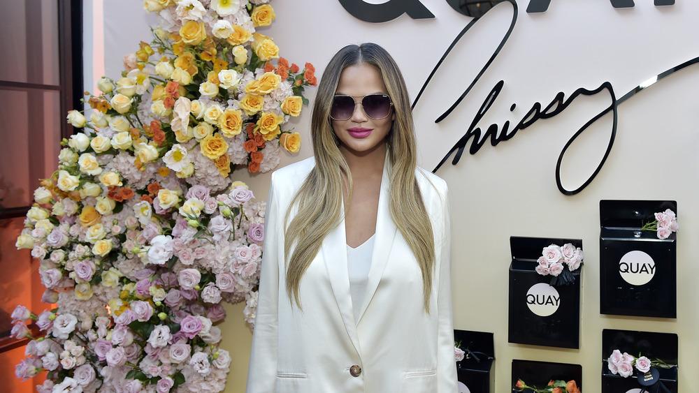 Chrissy Teigen in sunglasses