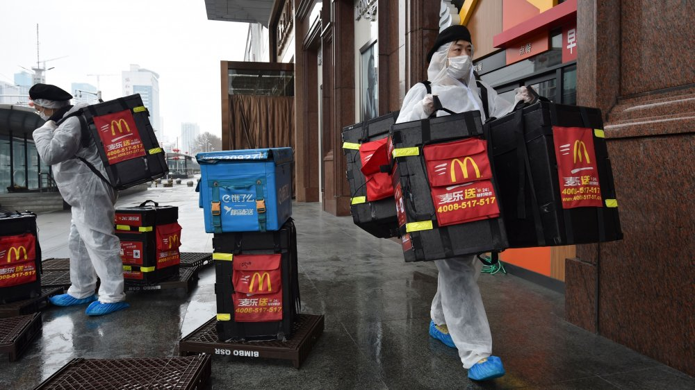 Chinese McDonald's workers protected against coronavirus