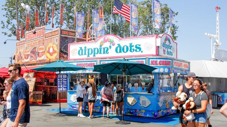 Dippin Dots stand at a fair