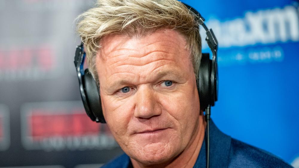 Gordon Ramsay with headphones on