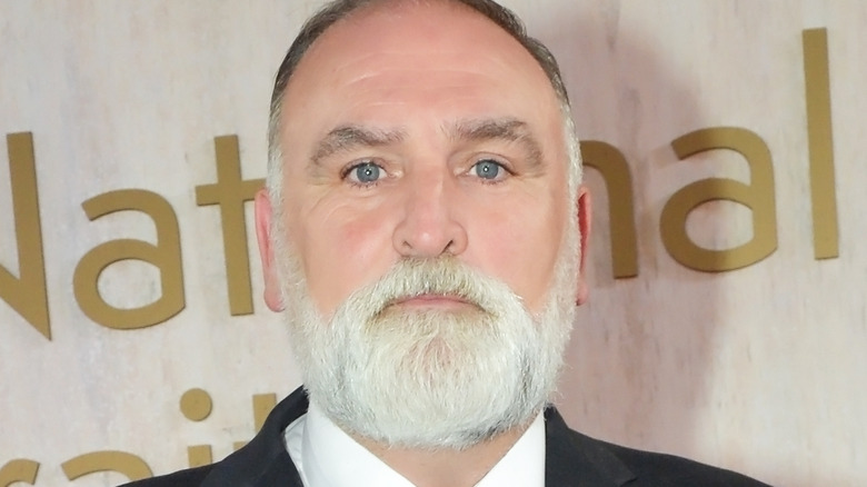José Andrés stares with white beard