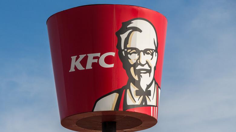 KFC restaurant sign