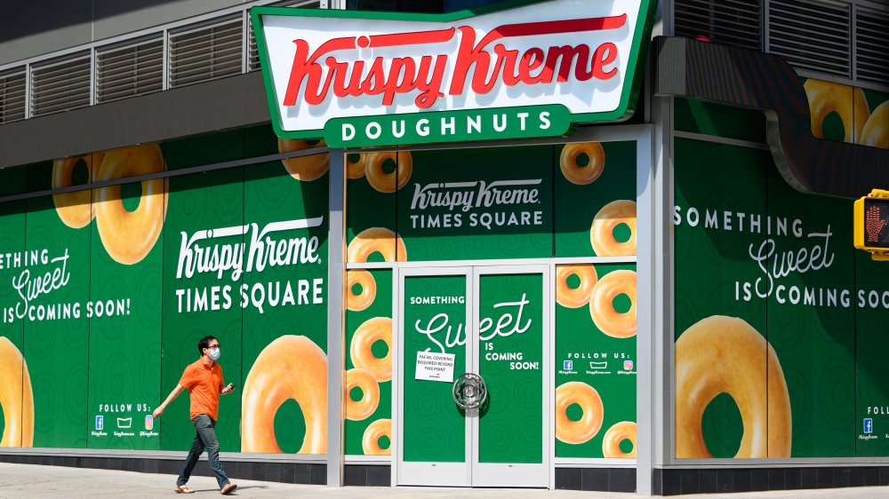 Krispy Kreme exterior Times Square