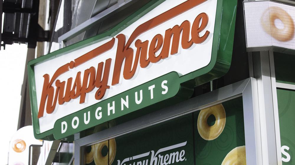 Krispy Kreme signage outside the store