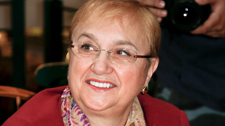Lidia Bastianich smiles with glasses