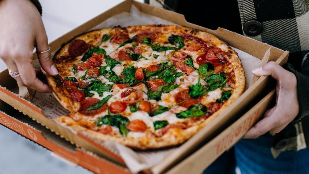 Eating fresh Blaze pizza