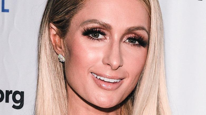 Paris Hilton on red carpet
