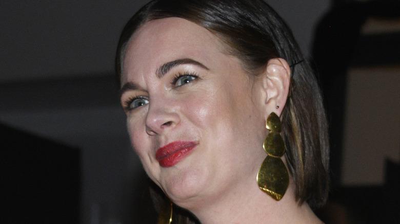 Alison Roman wearing earrings