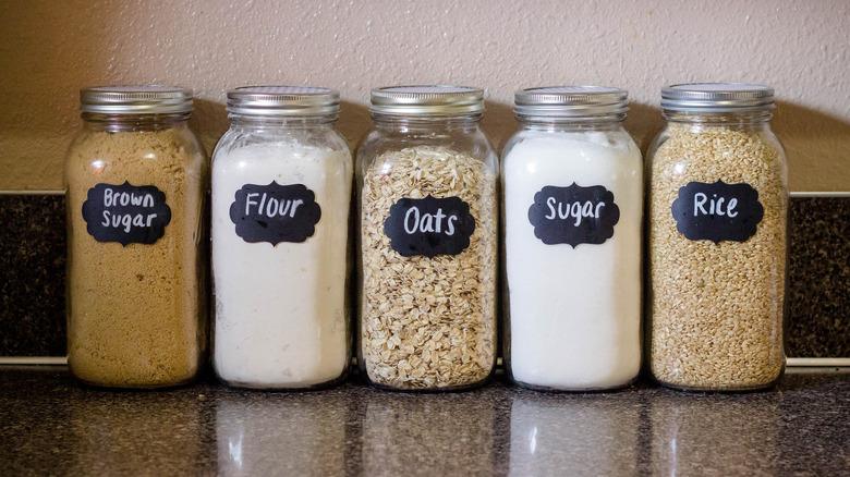 Mason jars for food storage
