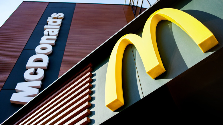 Outside of a McDonald's