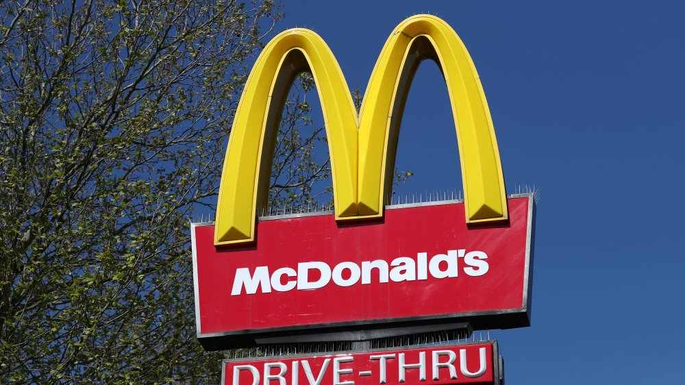 McDonald's drive through signage