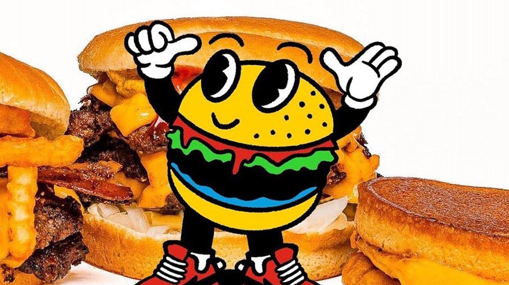 MrBeast Burger logo with food