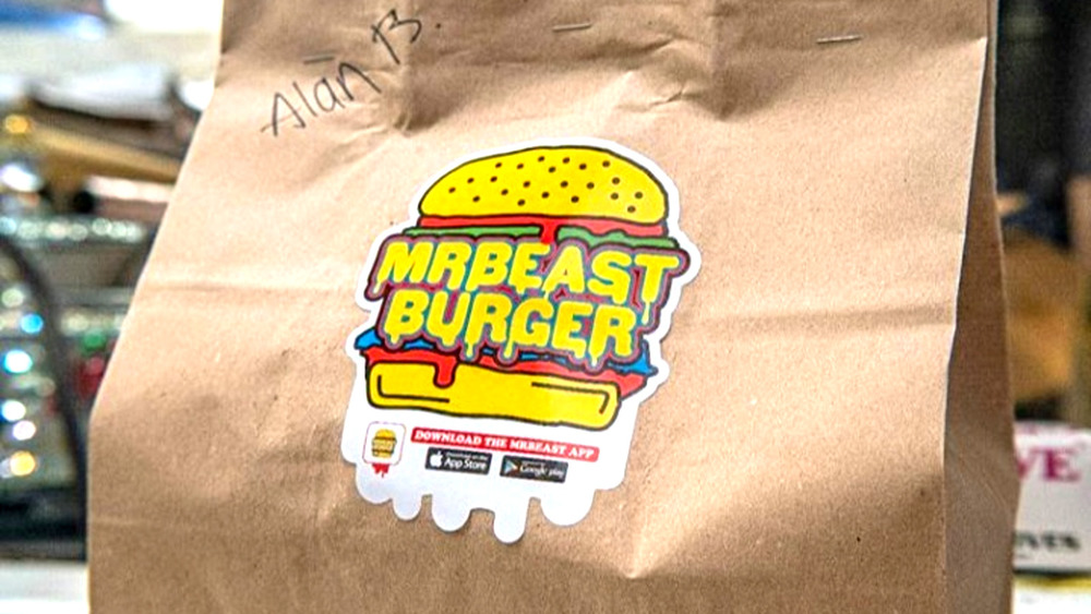 MrBeast Burger takeout bag