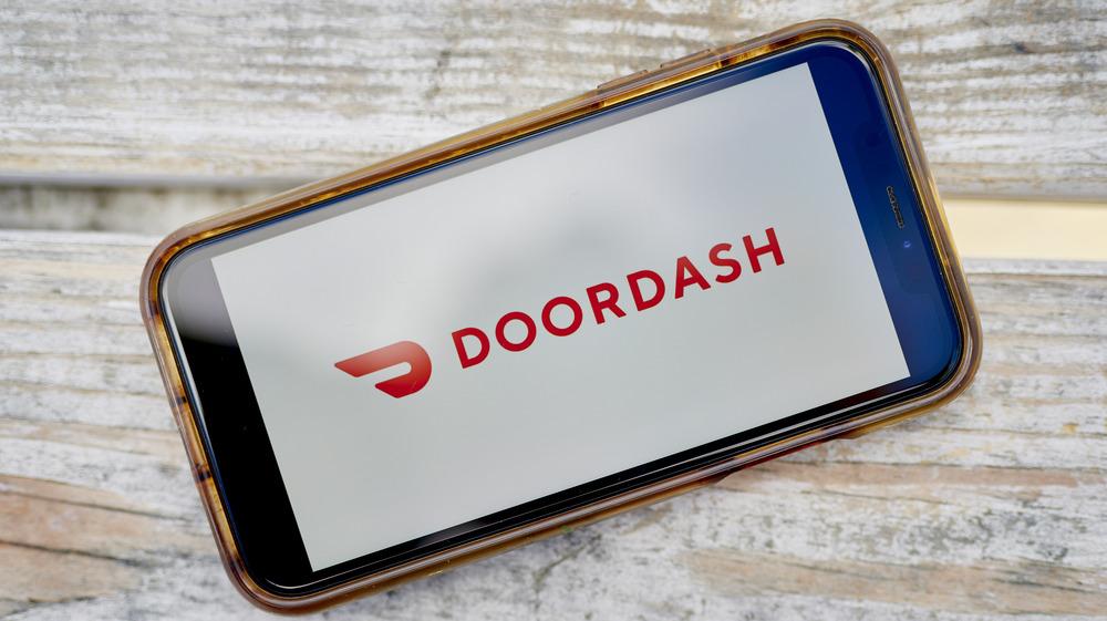 smartphone with DoorDash logo