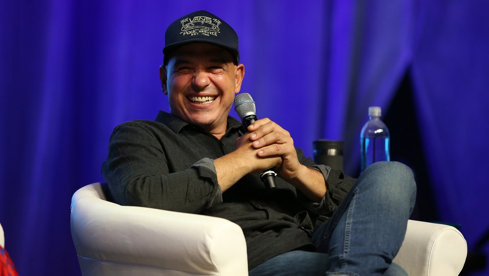Chef Michael Symon speaks at an event