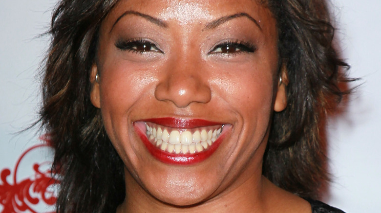 Chef Nyesha Arrington sporting red lipstick