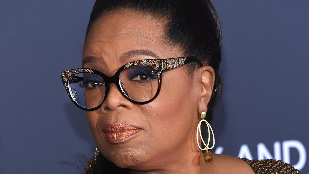Oprah Winfrey wearing sparkly glasses