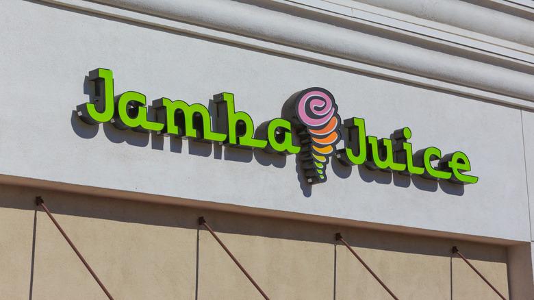 Outside a Jamba Juice store