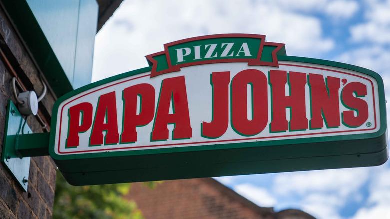 Papa John's street sign