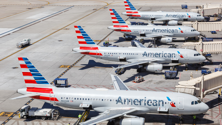 American Airlines airplanes at airport