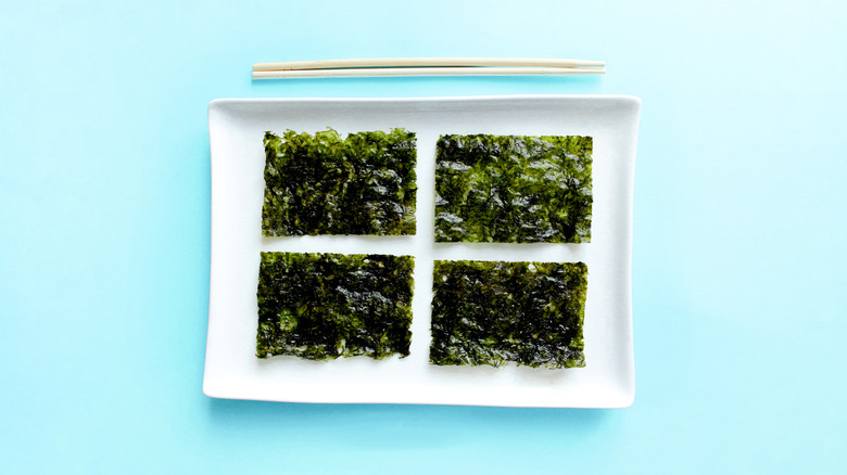 Seaweed and chopsticks