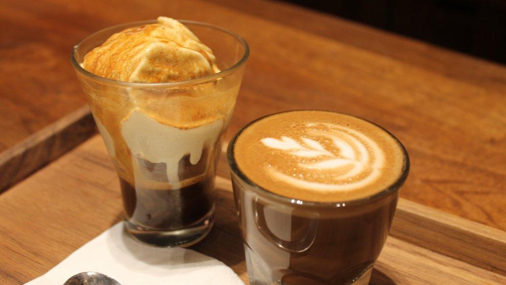 Affogato and latte taken in Starbucks Reserve in Shanghai, China