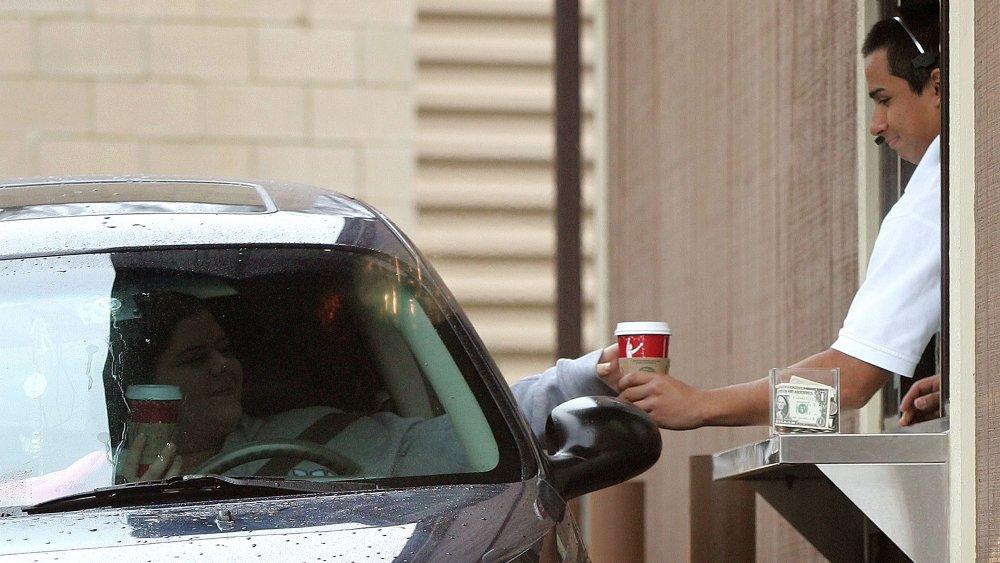 McDonald's drive-thru coffee