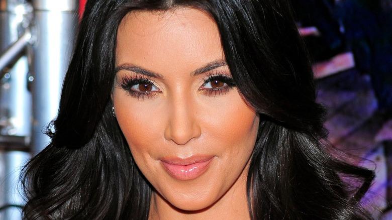 Kim Kardashian smiling at event