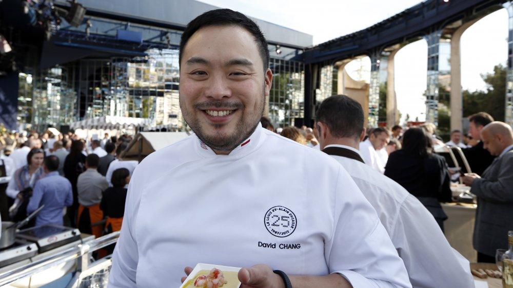 Chef David Chang at an event